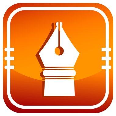 Orange icon pen
