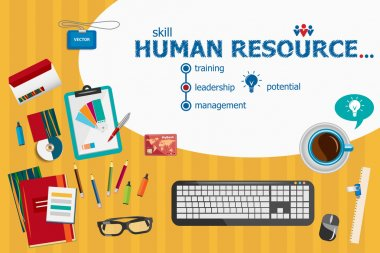 Human resource and flat design illustration concepts for busines