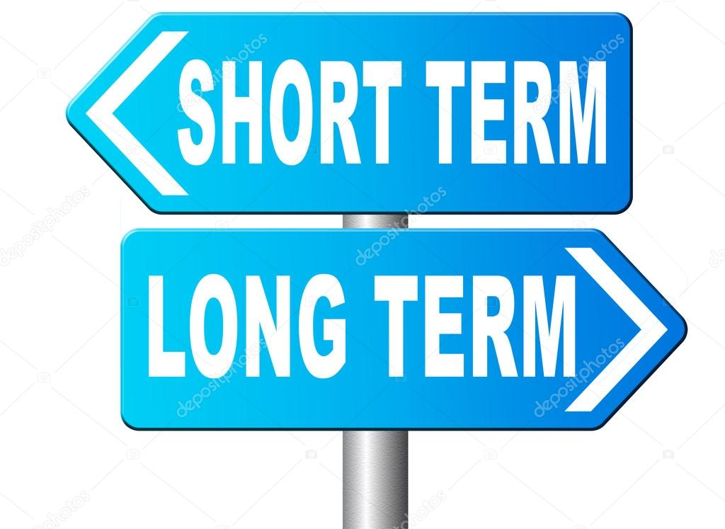 Long And Short Term : Long or short term planning thinking — stock photo