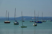 Boote am Ammersee, Bayern