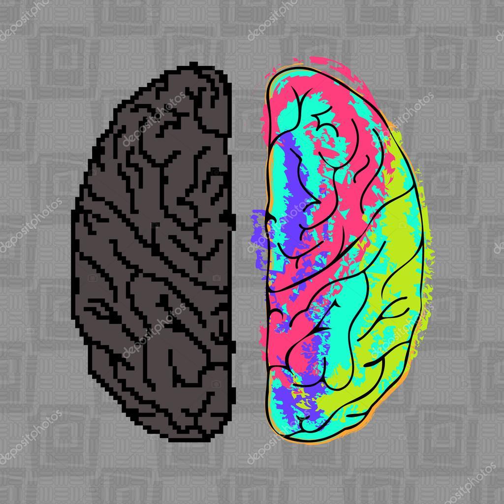 Картинка для проверки полушария мозга кроссовок
