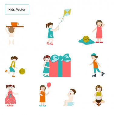 Kids. Elements. Vector.