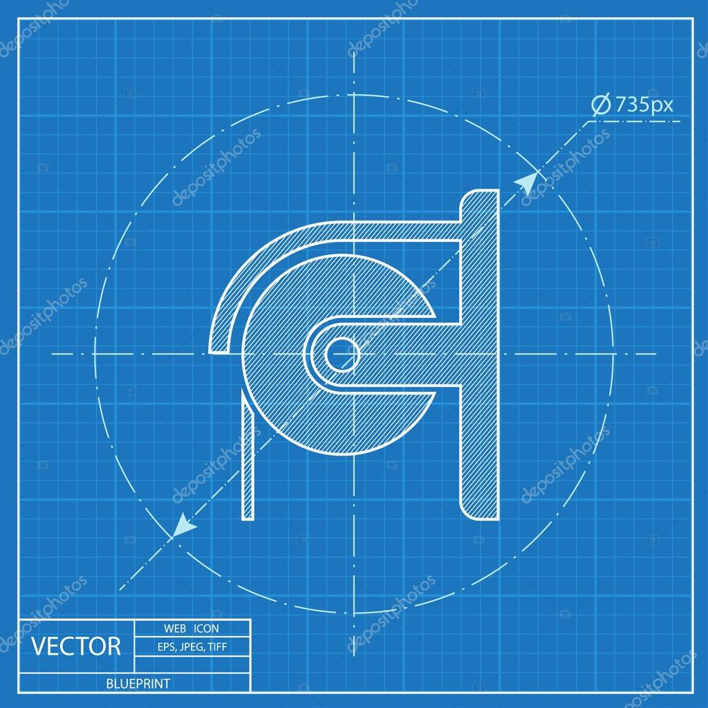 Toilet paper blueprint icon stock vector iconcraftstudio toilet paper blueprint icon stock vector malvernweather Images