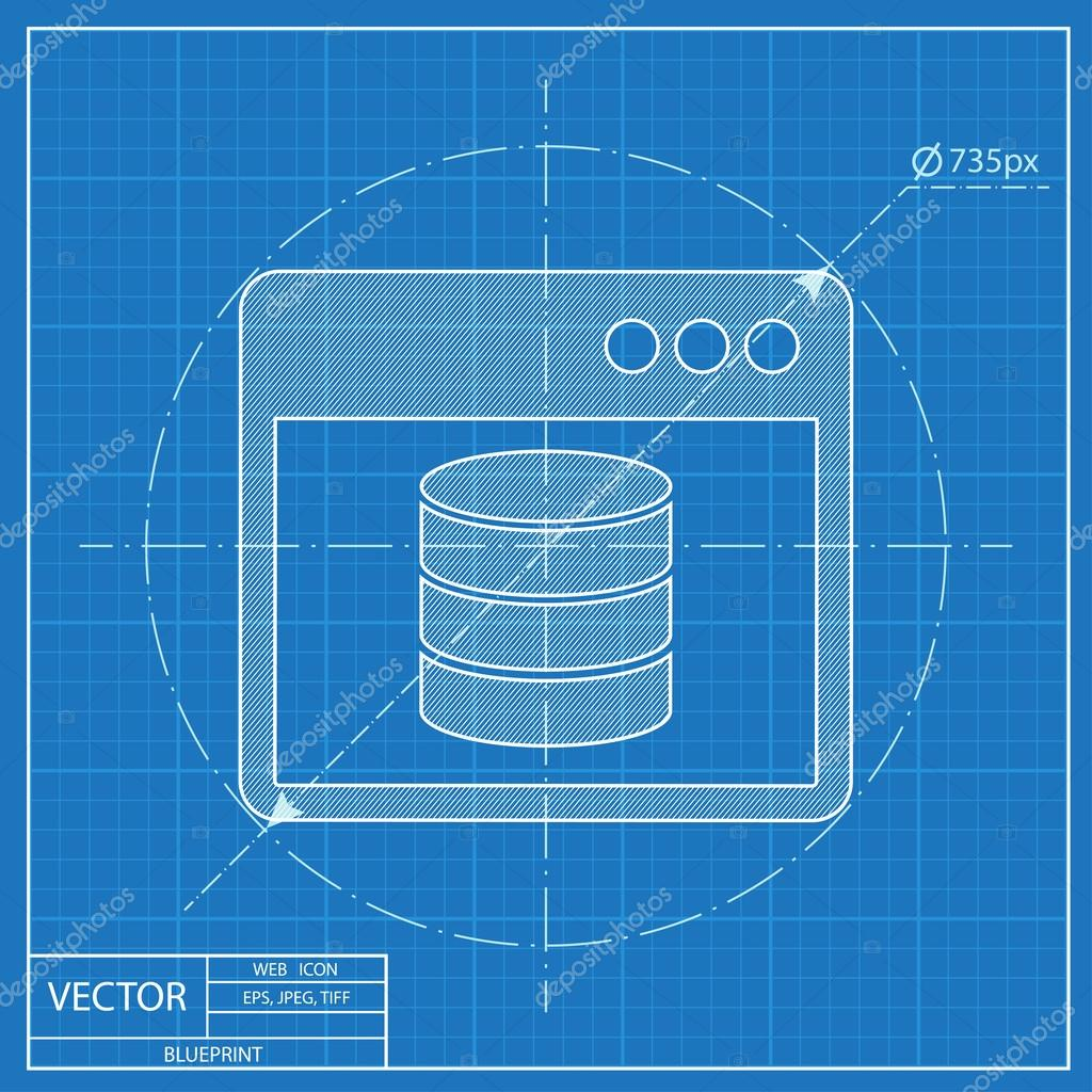 Database program window blueprint style stock vector database program window blueprint style stock vector malvernweather Images
