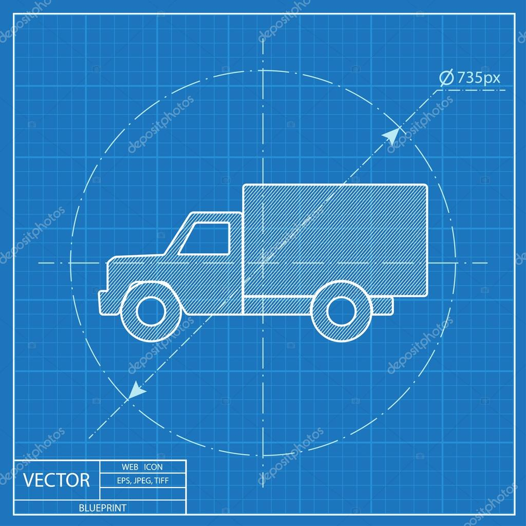 Blueprint icon of truck stock vector iconcraftstudio 108925010 blueprint icon of truck stock vector malvernweather Choice Image