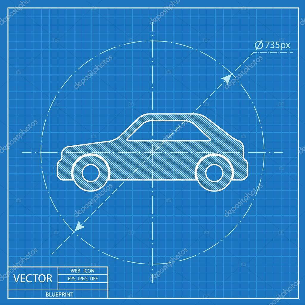 Blueprint icon of car stock vector iconcraftstudio 108925180 blueprint icon of car stock vector malvernweather Gallery