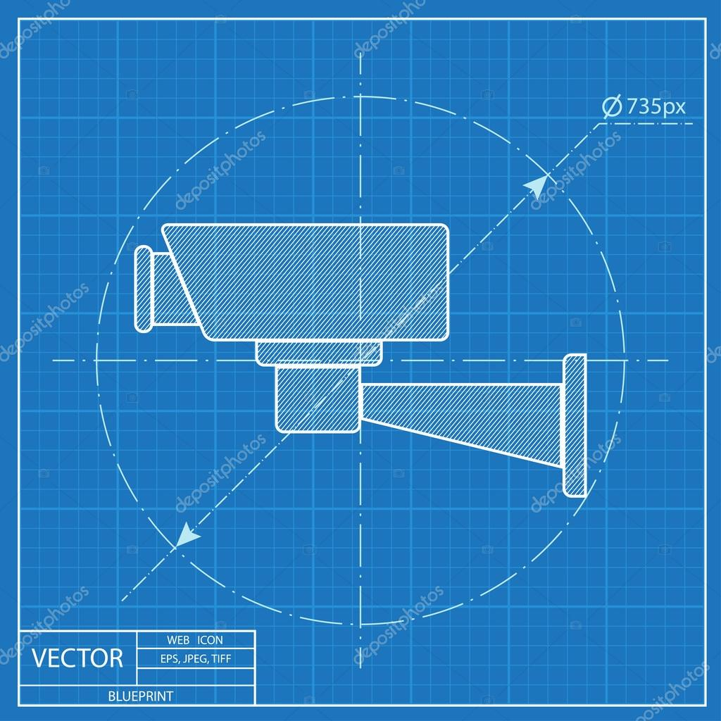 Blueprint icon of camera stock vector iconcraftstudio 108926972 blueprint icon of camera stock vector malvernweather Gallery