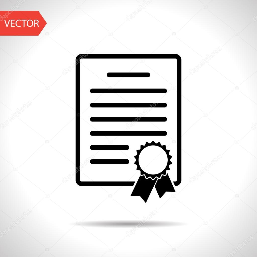 Certificate With Badge Icon Stock Vector Iconcraftstudio 80156112