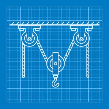 Loaded Movable Pulleys and rope physics blueprint