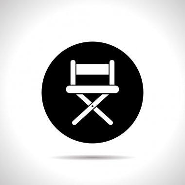 Vector illustration of cinema director chair icon stock vector