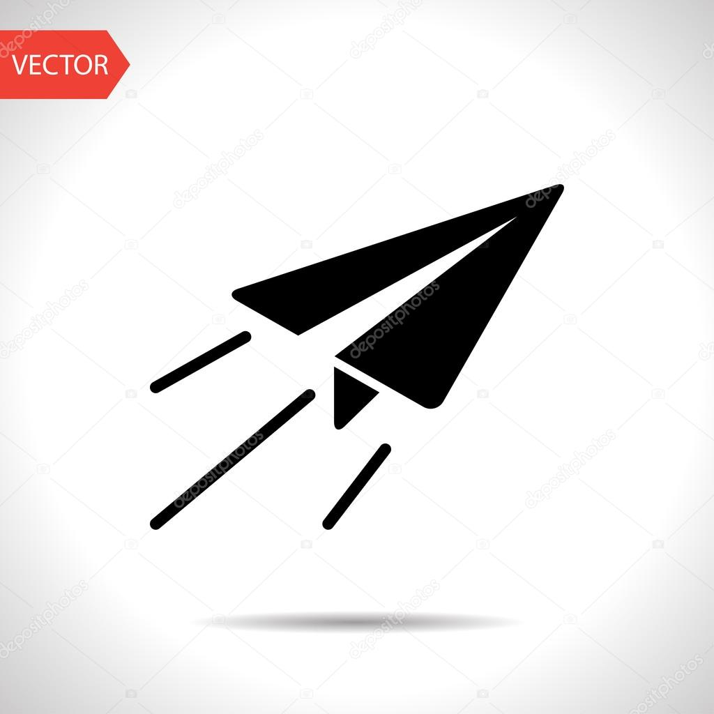 Paper Plane Sign Airplane Symbol Travel Icon Stock Vector