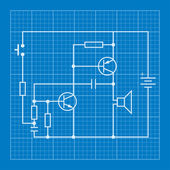 Technical schema of electric installations vector background electronic circuit scheme blueprint background stock illustration malvernweather Gallery