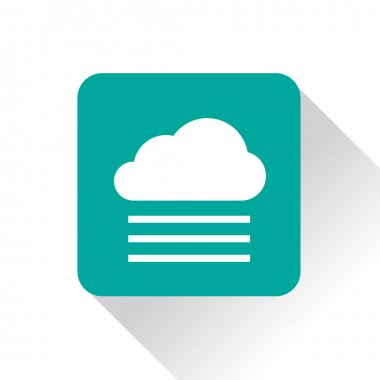Weather icon of foggy. eps10 clip art vector