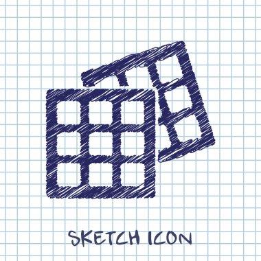 Vector belgian waffles icon. Food icon. Eps10