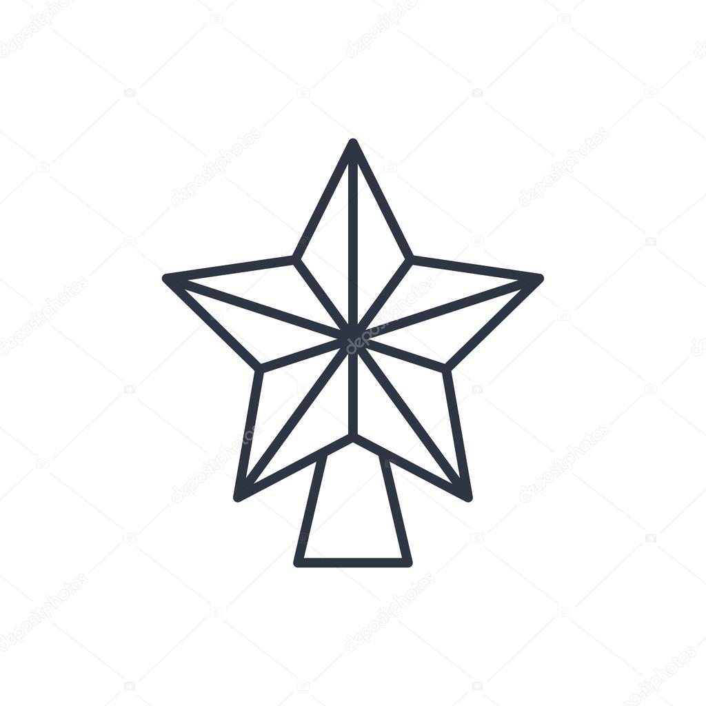Xmas star outline icon stock vector iconcraftstudio 84798754 xmas star outline icon stock vector 84798754 sciox Images
