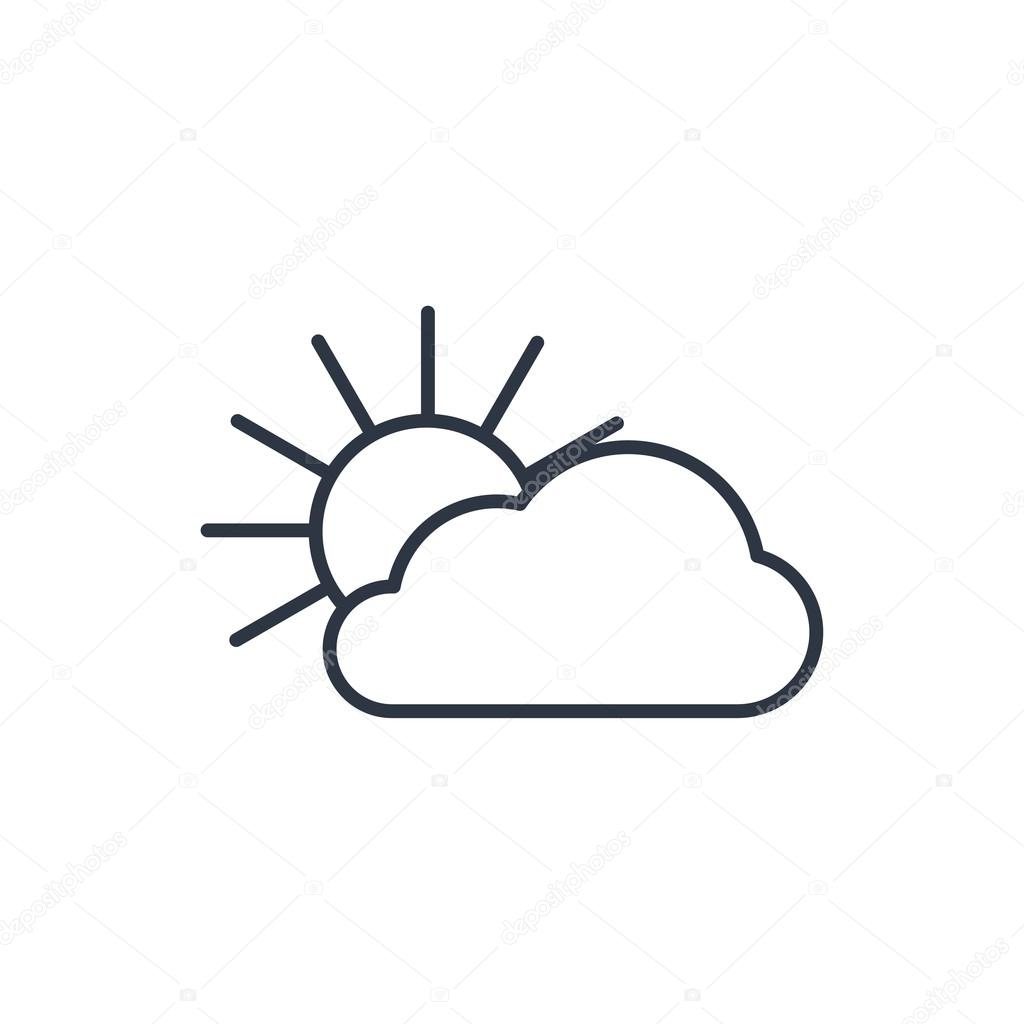 Outline icon of sun and cloud stock vector iconcraftstudio outline icon of sun and cloud stock vector voltagebd Choice Image