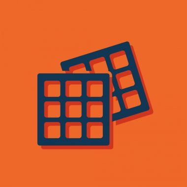Vector belgian waffles icon. Food icon. Eps10