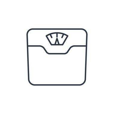 Vector bathroom weight scale icon clip art vector
