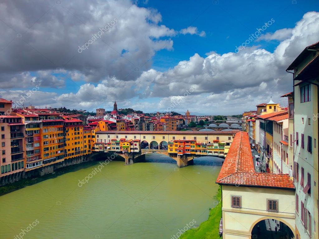 Ponte Vecchio Bridge in Florence. Italy.