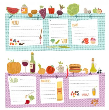 Healthy menu, food collection