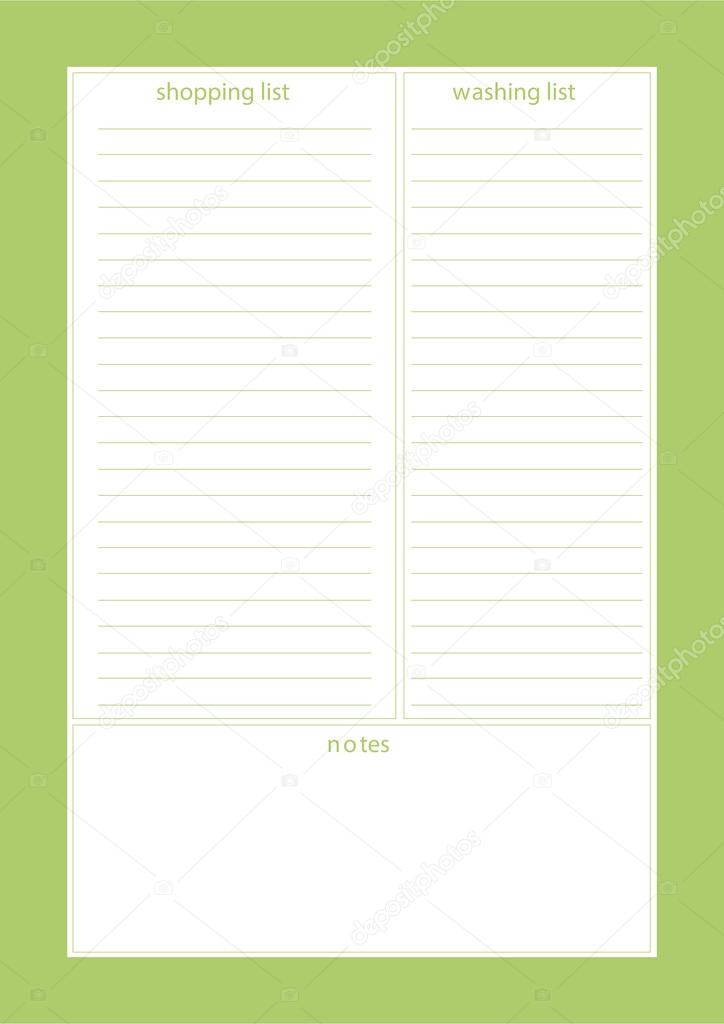 Planer, Organisator, Editor-Vorlage — Stockvektor © photovolga@gmail ...