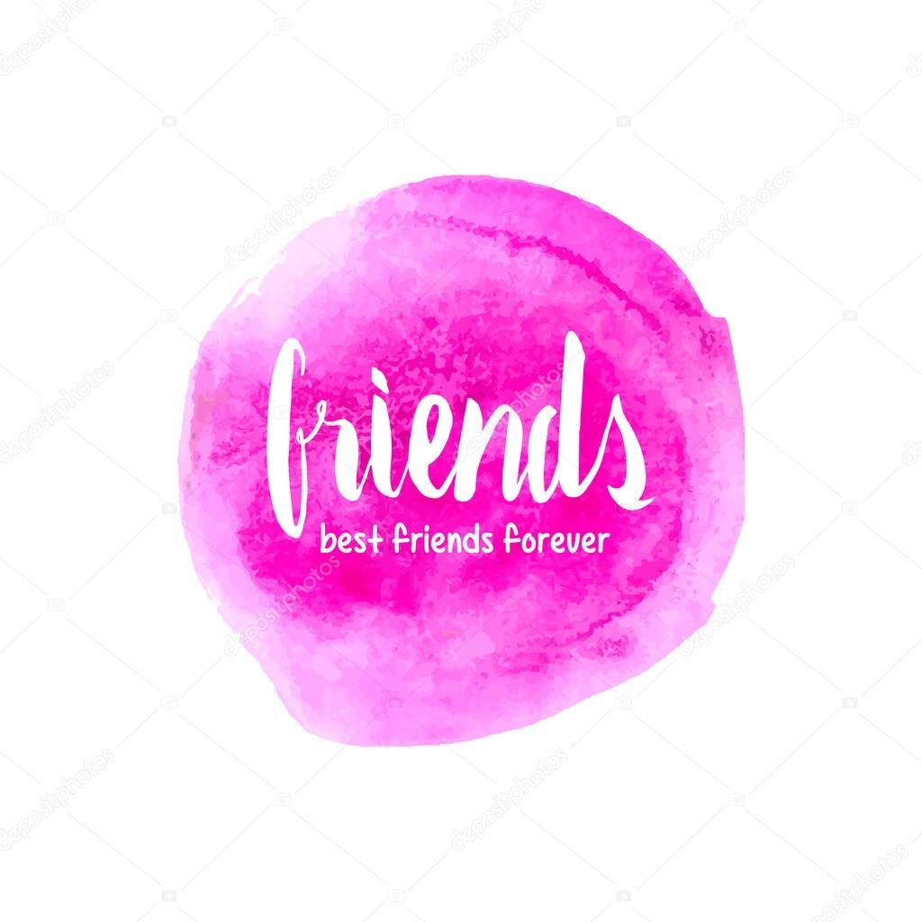 best friends forever lettering stock vector photovolga gmail com