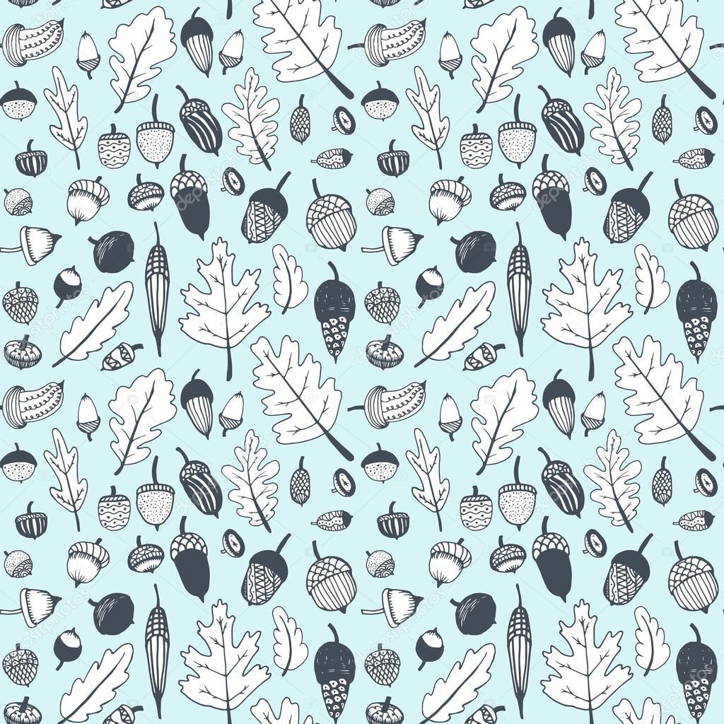 oak leaves ahd acorns pattern ストックベクター photovolga gmail