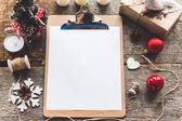 Fényképek új év kompozíció papír háttér