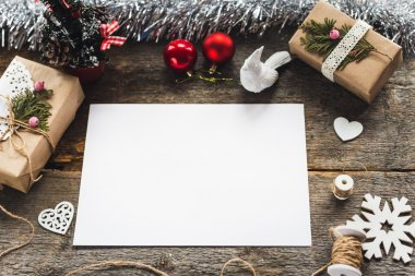 new year composition with paper background