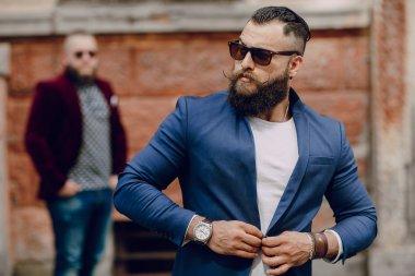 Two bearded men fashion