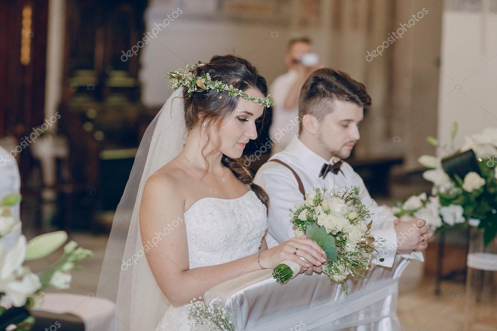 Wedding church couple