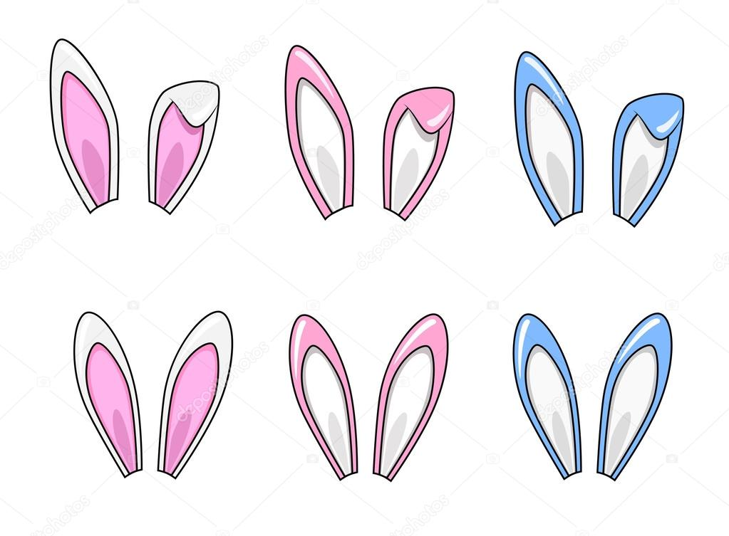 cartoon rabbit ears set stock vector  u00a9 eugenie  64408955 lotus clip art outline lotus clip art black and white