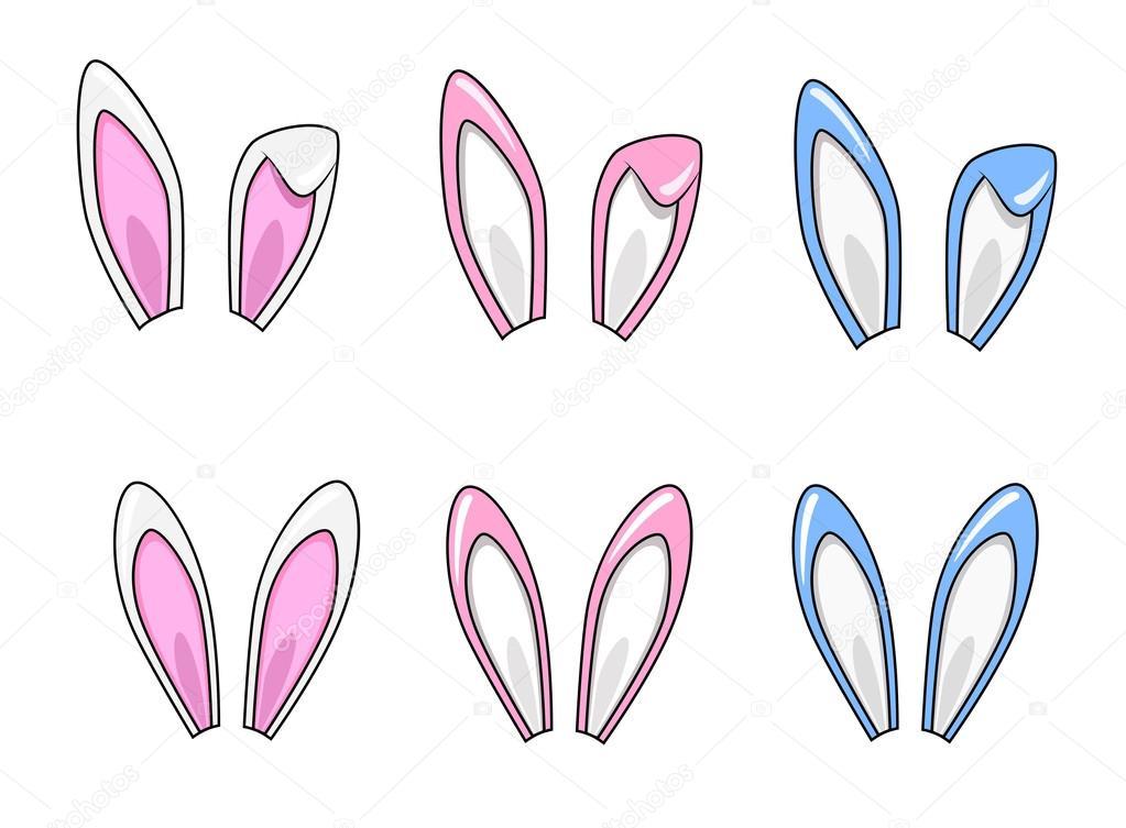 Jeu d 39 oreilles de lapin de dessin anim image - Dessin oreille de lapin ...