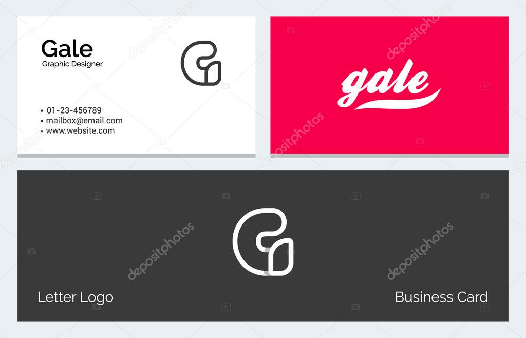 G Alphabet Letter Minimal Linear Logo Business Card template ...