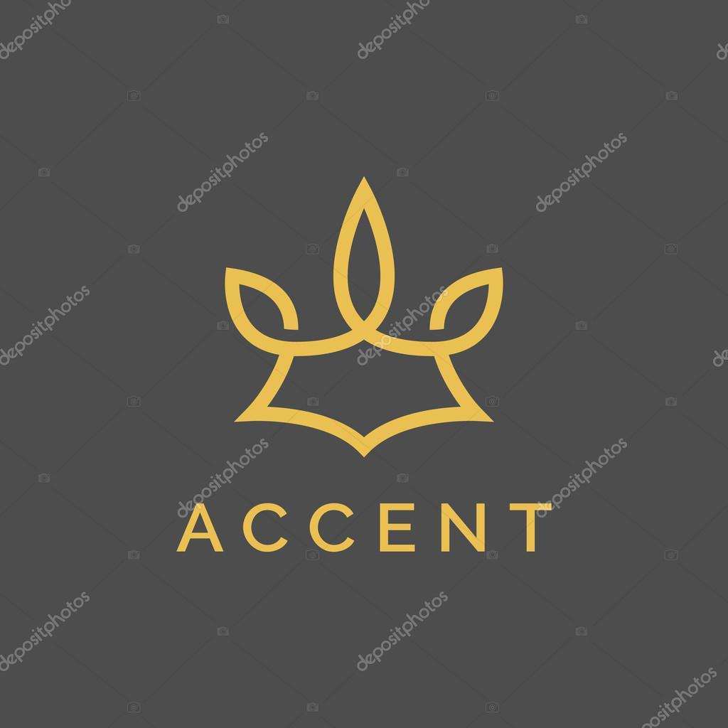 Abstract Elegant Ornament Logotype Sign Mark Icon Vector Design