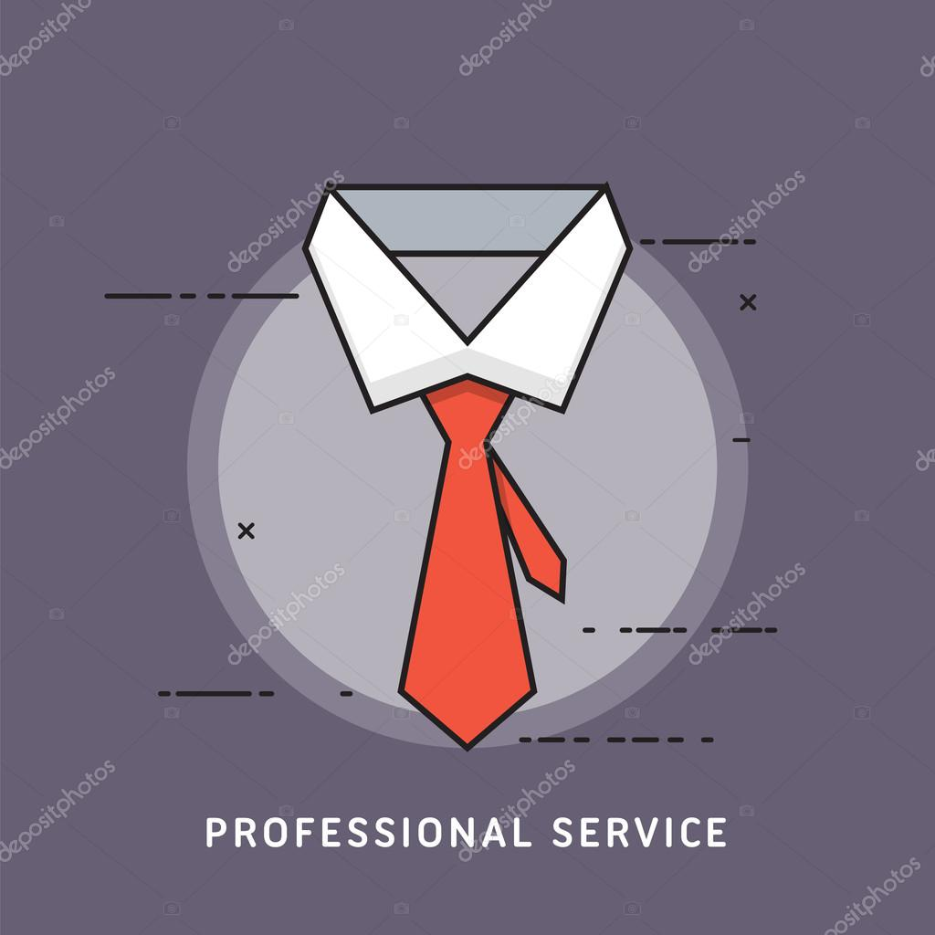 Professional Service Creative Flat Business Concept Icons For Web
