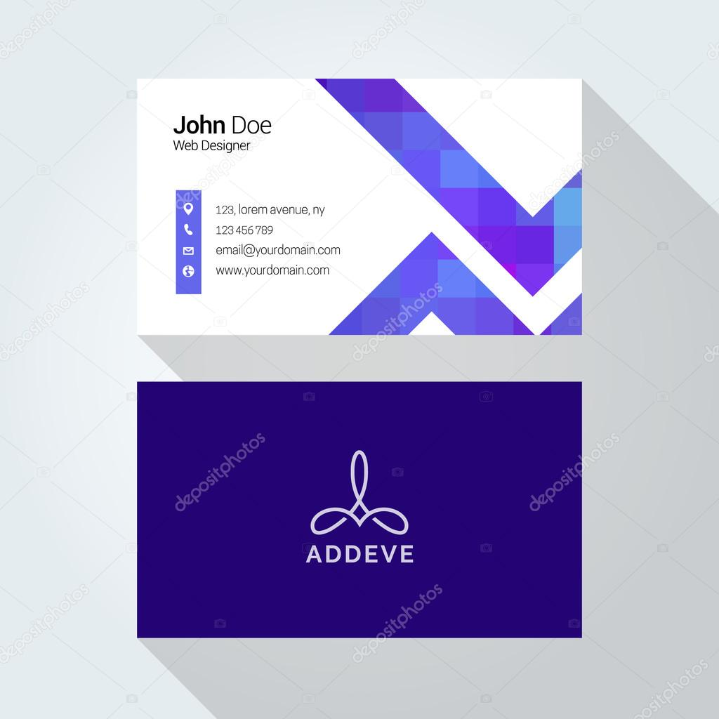 Corporate business card template logo template design simple corporate business card template logo template design simple minimal modern design vetores reheart Images