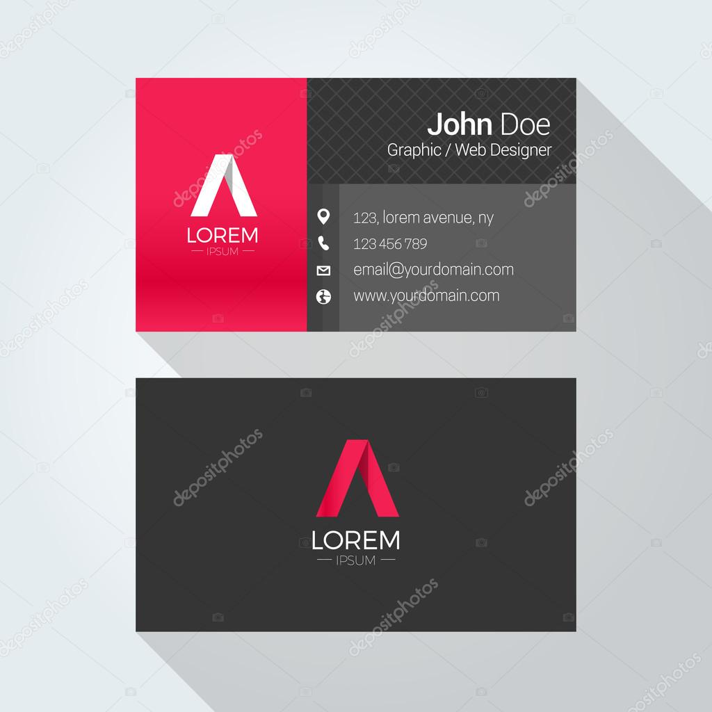 Corporate business card template logo template design simple corporate business card template logo template design simple minimal modern design vetores reheart
