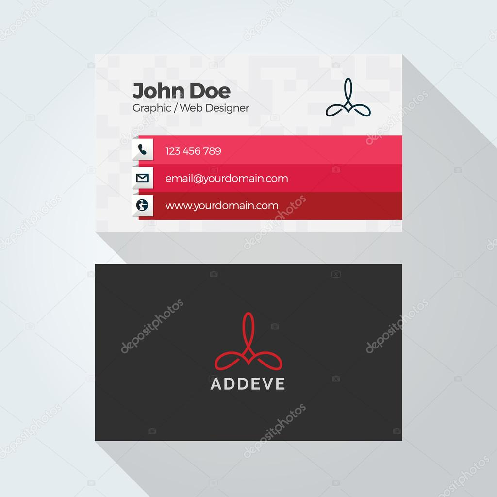 Corporate business card template logo template design simple corporate business card template logo template design simple minimal modern design vetores reheart Gallery