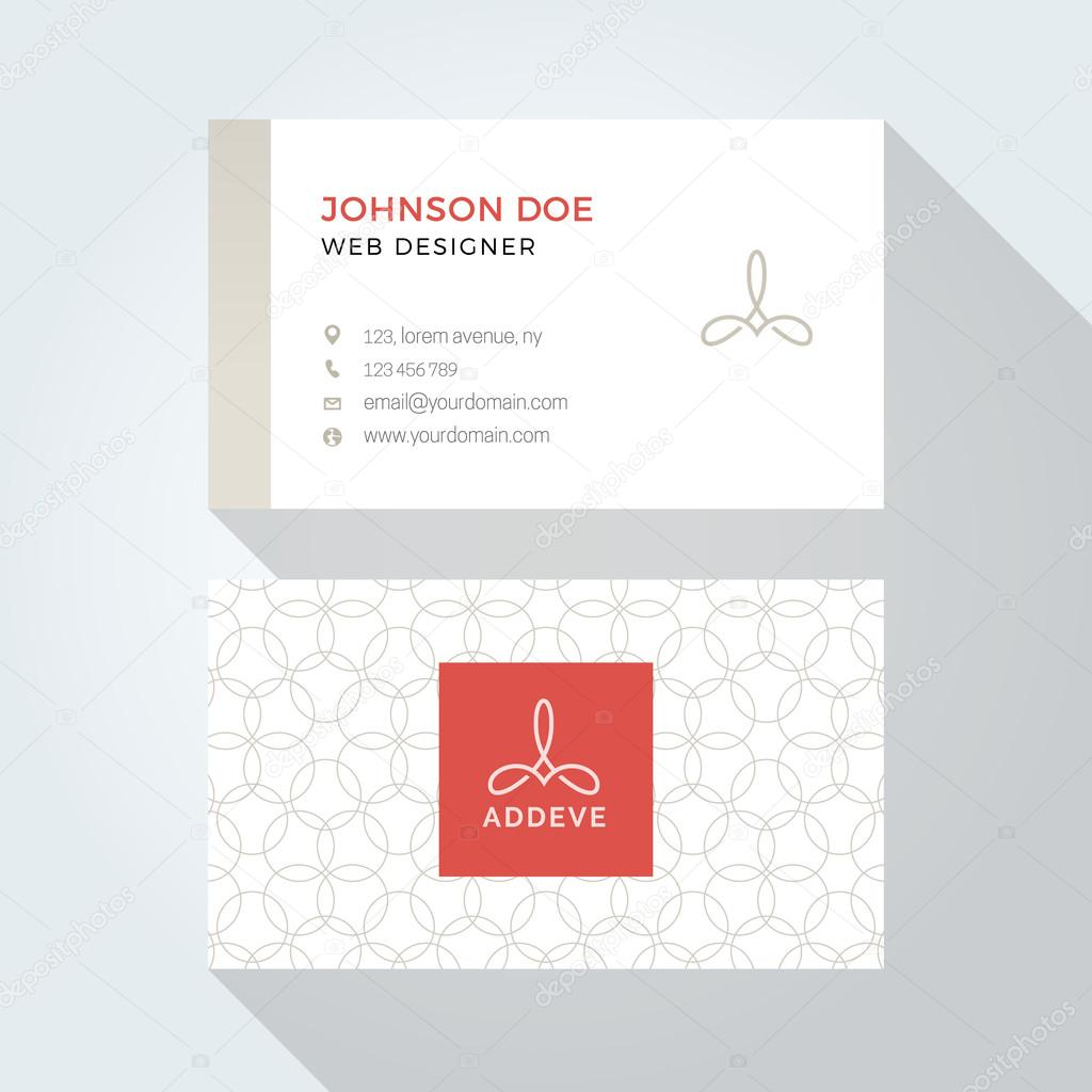 Corporate business card template logo template design simple corporate business card template logo template design simple minimal modern design vetores reheart Image collections