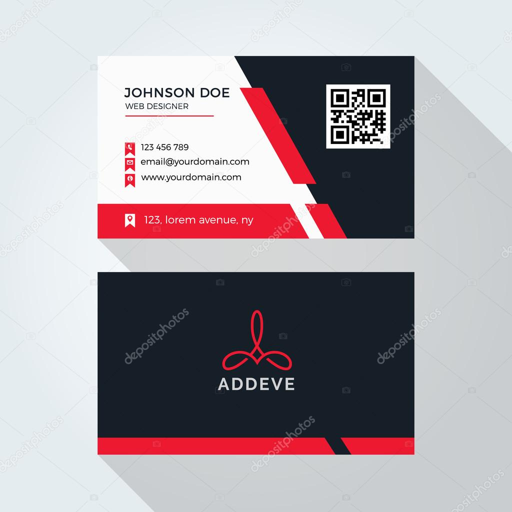 Corporate business card template logo template design simple corporate business card template logo template design simple minimal modern design vetor reheart Images