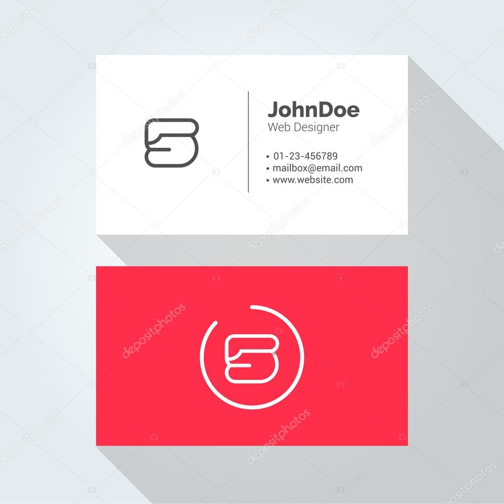 S Simple Letter Minimal alphabet linear logo. Business card ...