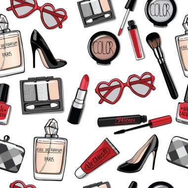 fashion collection of cosmetics