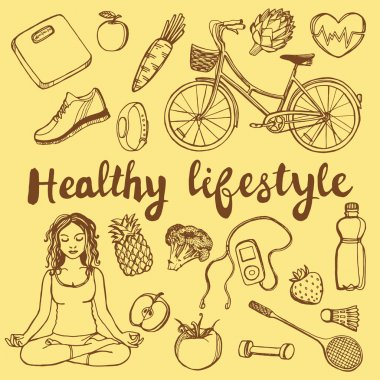 healthy lifestyle set