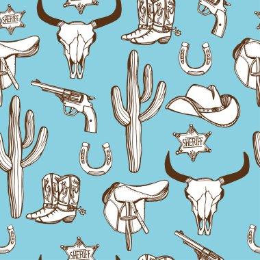 Wild West western pattern