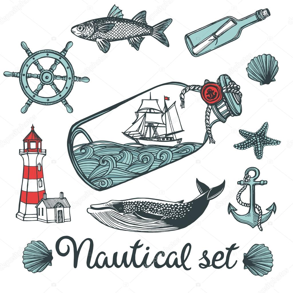 Vintage nautical set.
