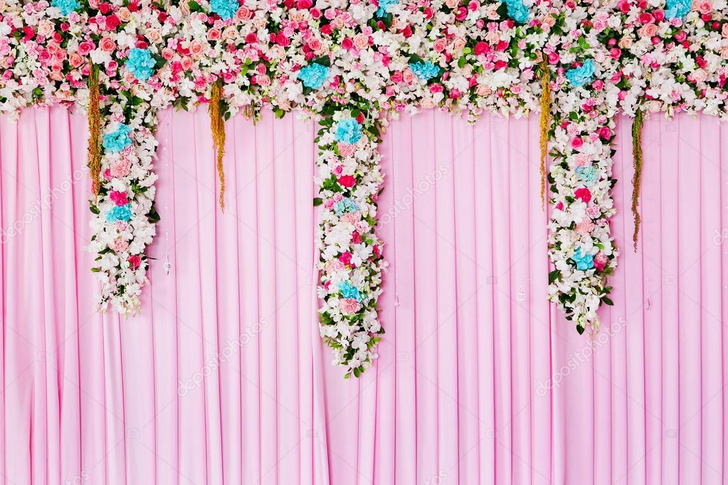 Wedding backdrop with flower decoration for background stock photo wedding backdrop with flower decoration for background stock photo junglespirit Gallery