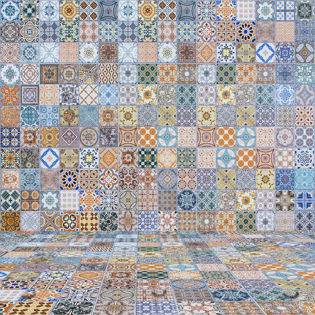 Boden und Wand Fliesen vintage.ceramic Fliesen Muster — Stockfoto ...