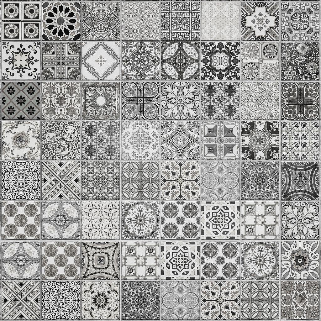 Keramische Fliesen Muster aus Portugal. — Stockfoto ...