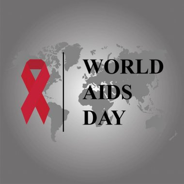 World AIDS Day Banner Background IllustrationVEKTOR EPS 10 icon